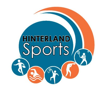 HINTERLAND SPORTS  logo teal and orange